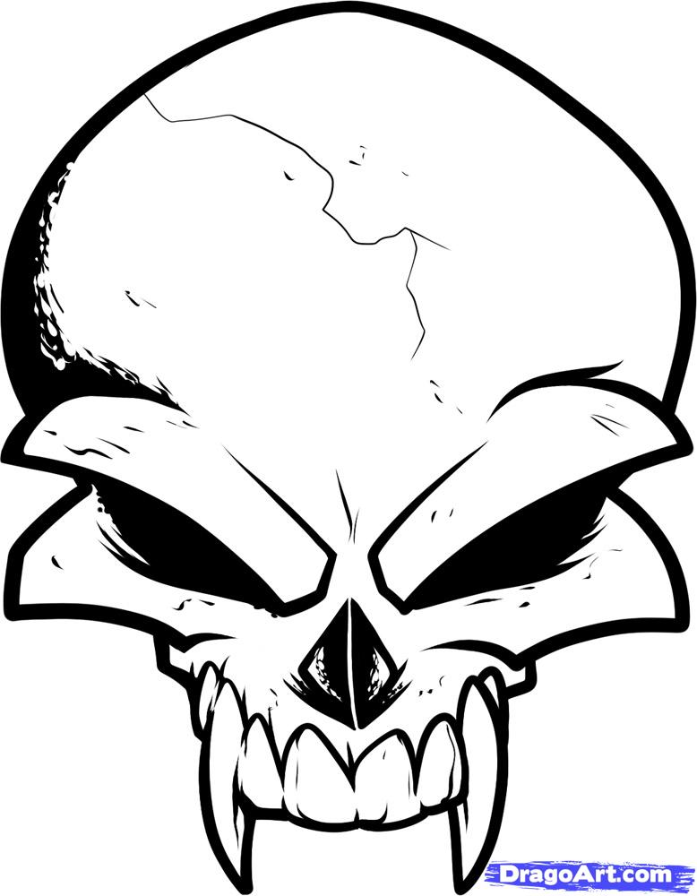 It's just a photo of Bewitching Vampire Skull Drawing