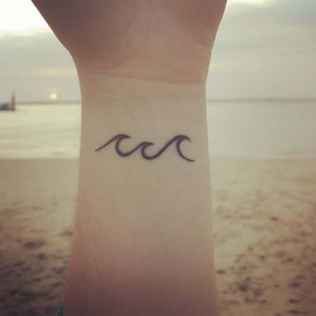 Tattoo Images And Photos Ideas 35 Simple Wave Tattoos Pictures Cool