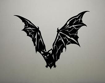 Black Vampire Bat Tattoo Design