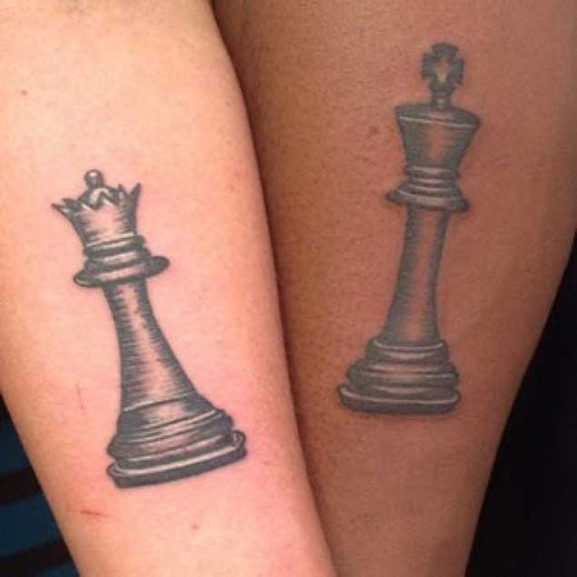 Queen Chess Piece Tattoo On Wrist 11+ King And Queen Tat...