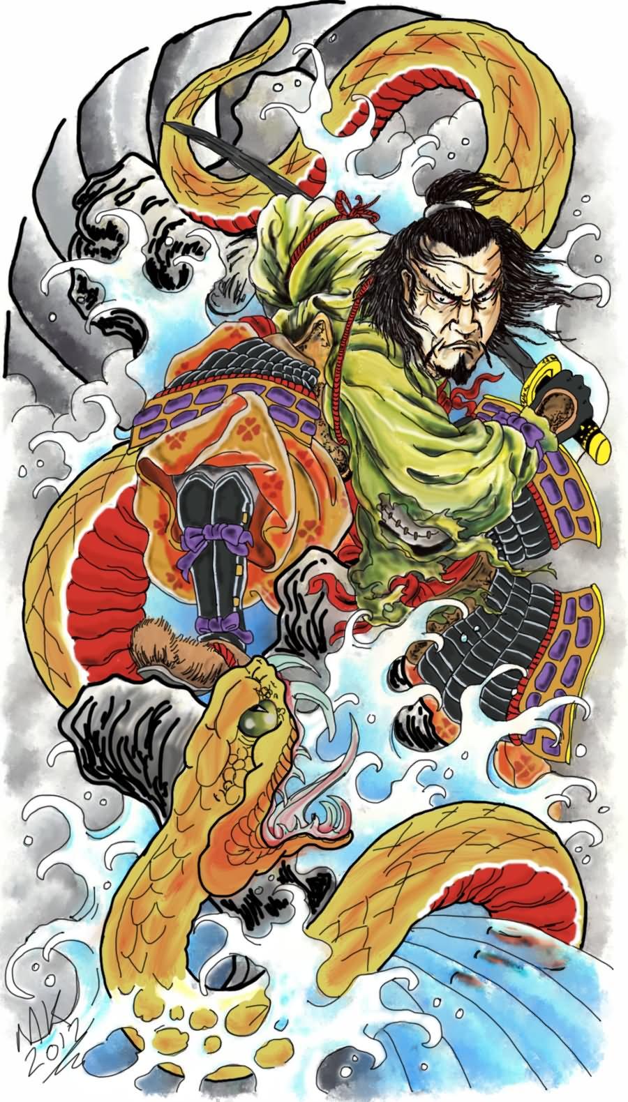 18 samurai tattoo designs for Japanese tattoo flash