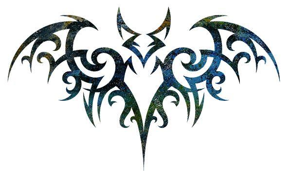 Métamorphose du présent en une rose éternelle Cool-Black-Tribal-Vampire-Bat-Tattoo-Stencil