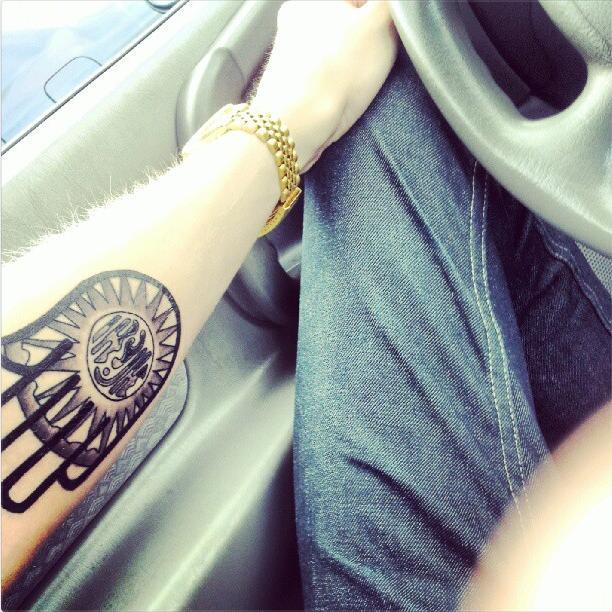 63accd9d4 Cool Jain Hand Symbol Tattoo On Left Forearm