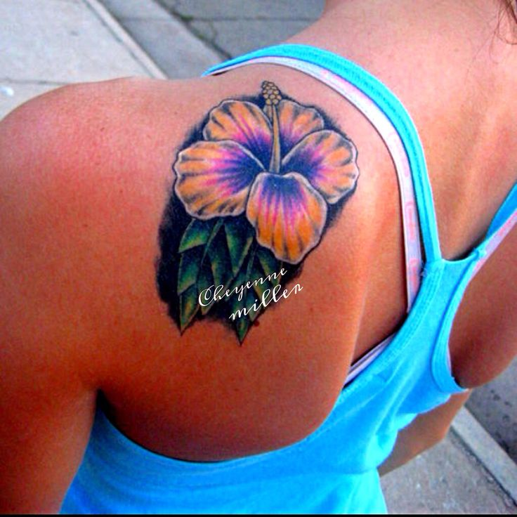 22+ Hibiscus Tattoos On Back Shoulder