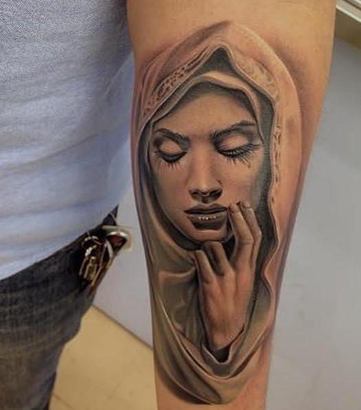 38 Awesome Saint Mary Tattoos