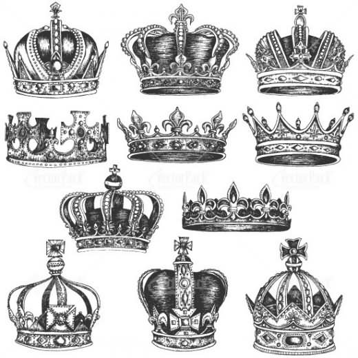 16 queen crown tattoo designs for Crown royal tattoo