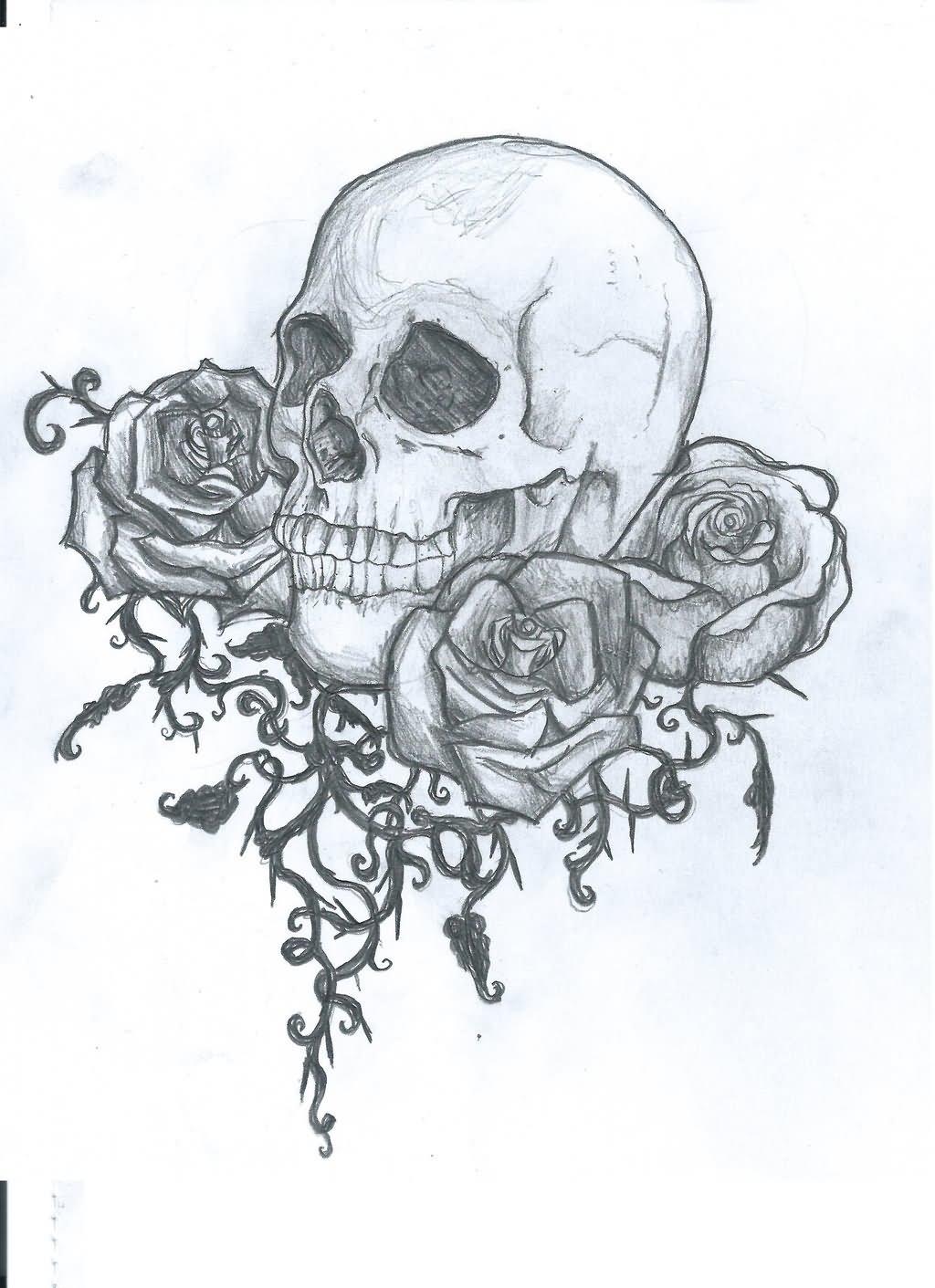 25 vampire skull tattoo designs. Black Bedroom Furniture Sets. Home Design Ideas