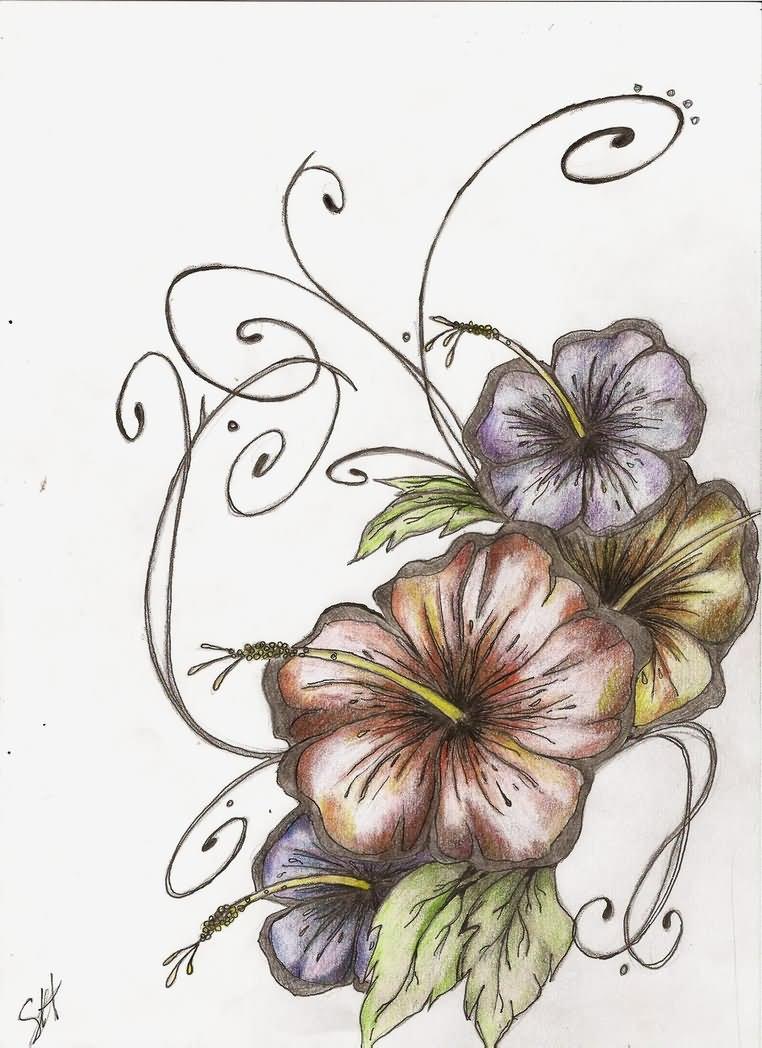 22 Best Hibiscus Tattoo Designs