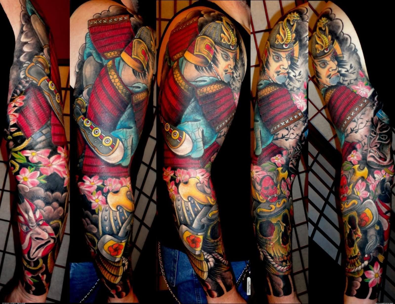 8+ Samurai Tattoos On Full Sleeve