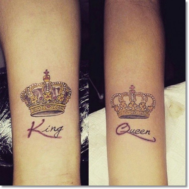 25 awesome queen crown tattoos. Black Bedroom Furniture Sets. Home Design Ideas