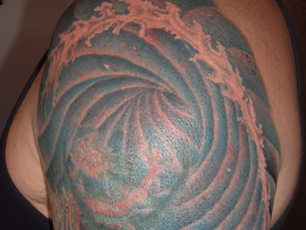 Realistic Wave Tattoo ...