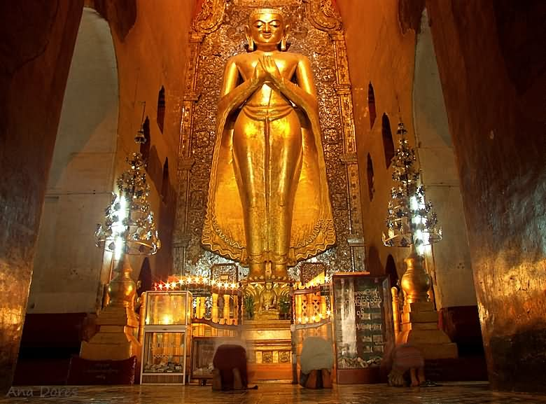 Lord Buddha Statue Inside The Ananda Temple