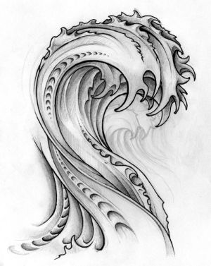 Mechanical Wave Tattoo Design