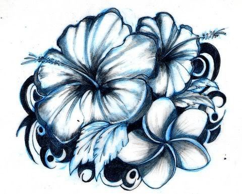 22 best hibiscus tattoo designs. Black Bedroom Furniture Sets. Home Design Ideas