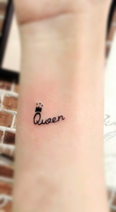 Queen - Little Crown Tattoo Design For Wrist