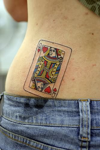 15 Queen Of Hearts Tattoo