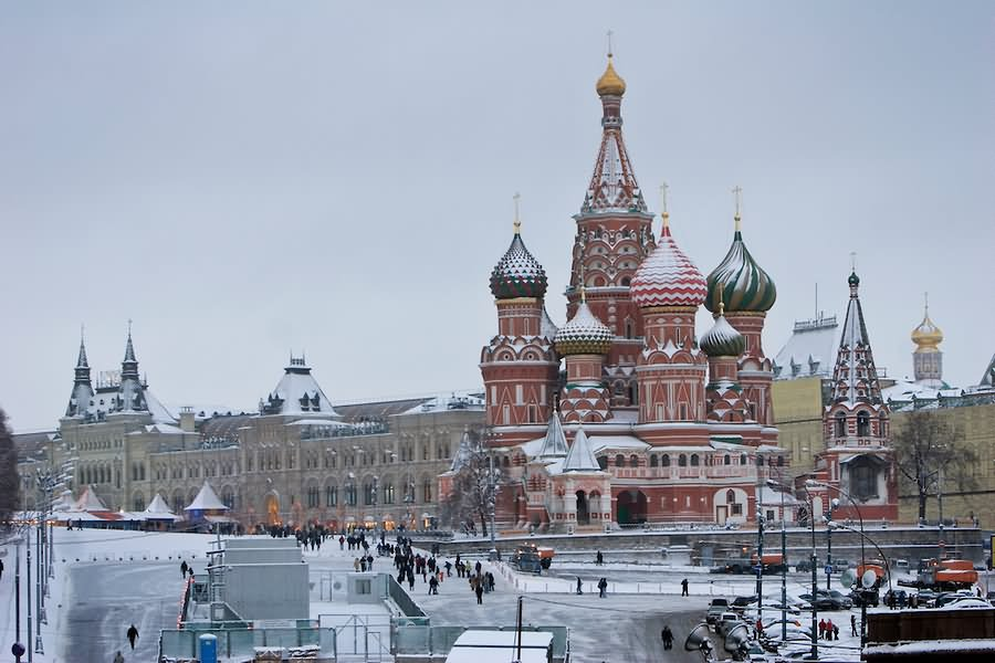 Image result for the kremlin snow
