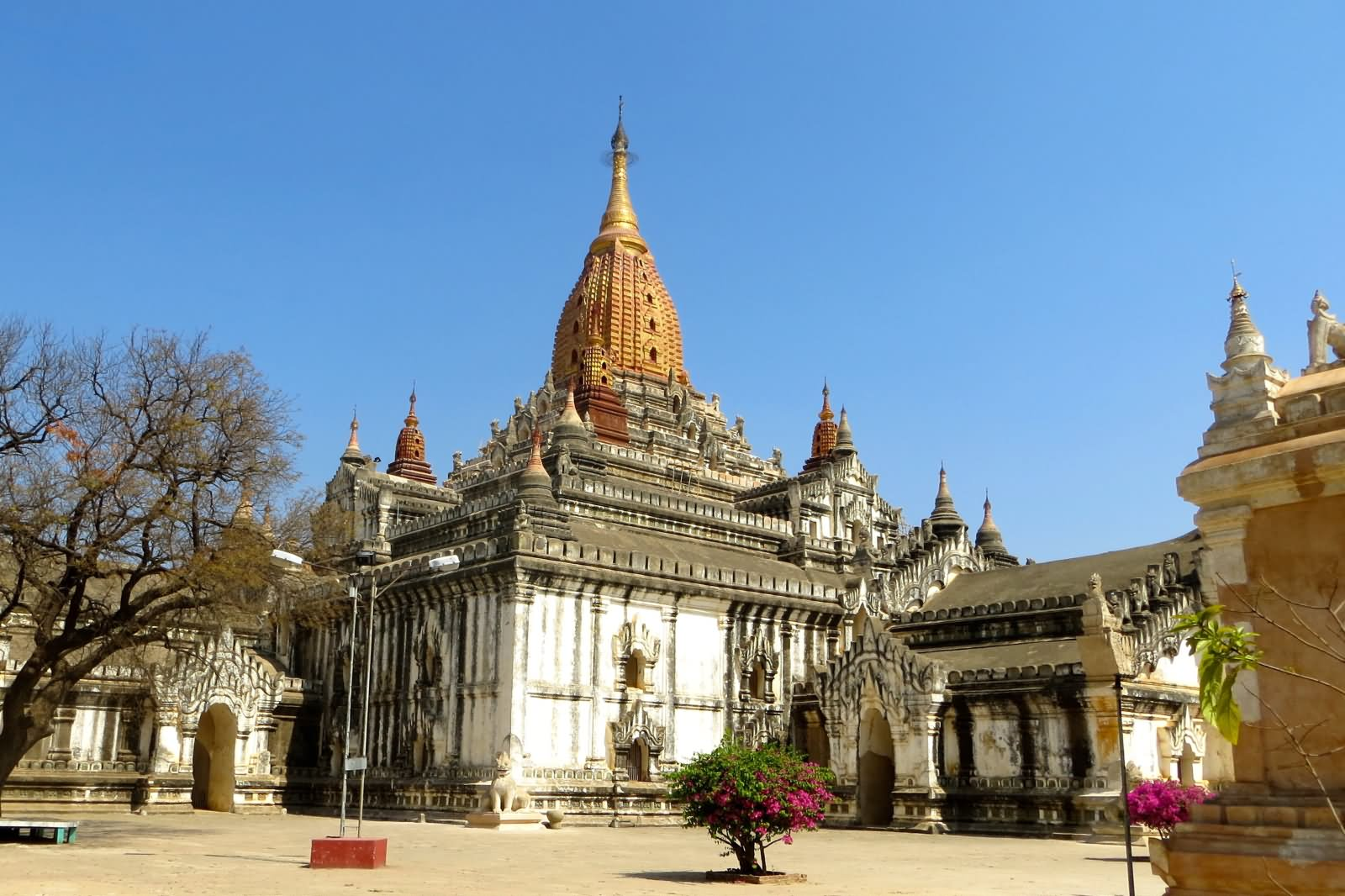 Side View Of The Ananda Temple In Myanmar