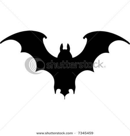 8622b67d53433 Silhouette Vampire Bat Tattoo Stencil