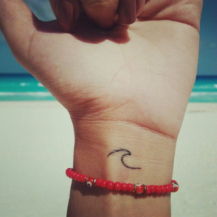 11 cute wave tattoos on wrist for Simple wave tattoos