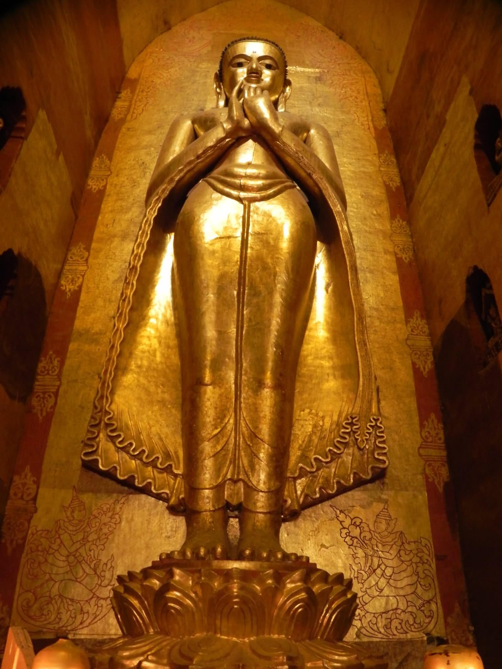 Standing Buddha Inside The Ananda Temple