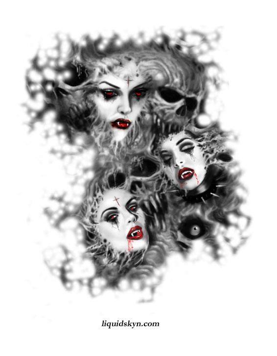 10 vampire tattoos designs. Black Bedroom Furniture Sets. Home Design Ideas