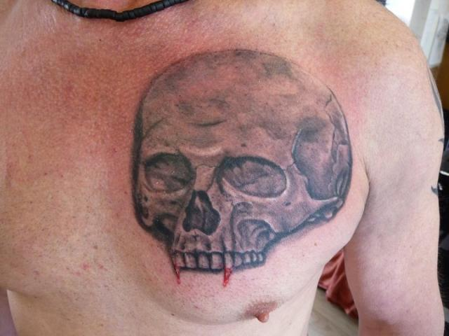 25 vampire skull tattoo designs for Vampire skull tattoo