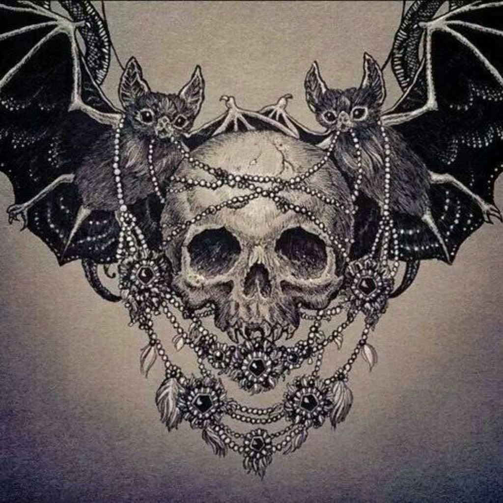 16 vampire bat tattoo design ideas for Vampire skull tattoo