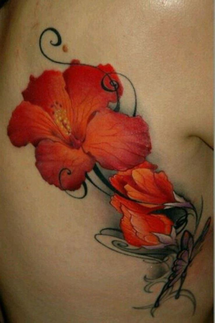 50 beautiful hibiscus tattoos amazing side rib hibiscus flower tattoo izmirmasajfo