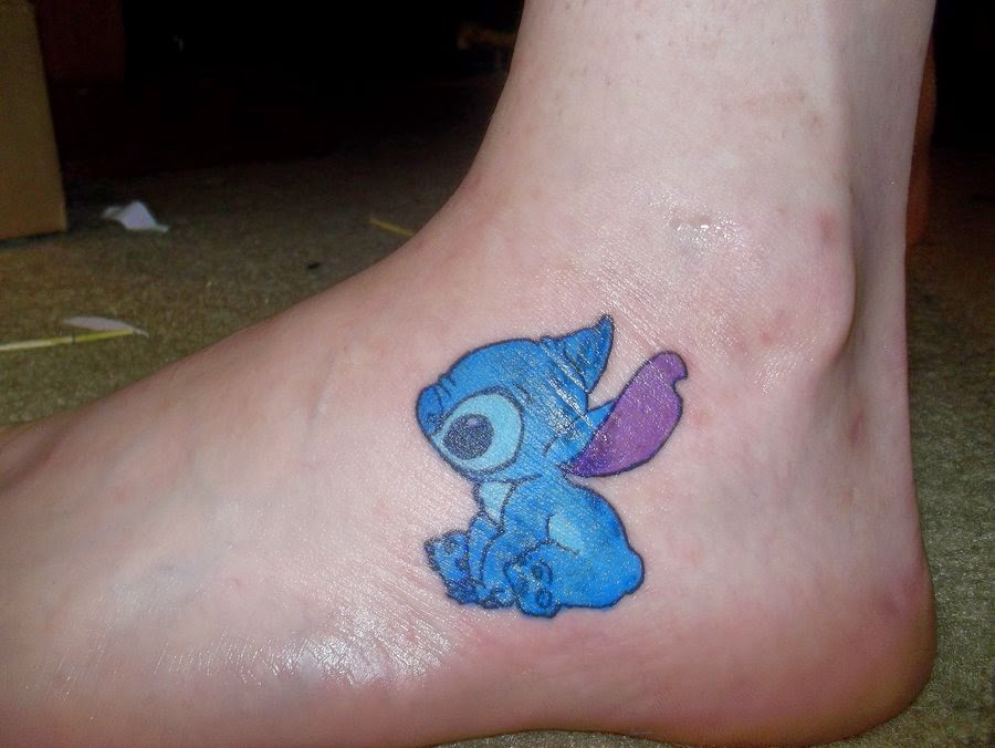 cool stitch tattoo on foot. Black Bedroom Furniture Sets. Home Design Ideas