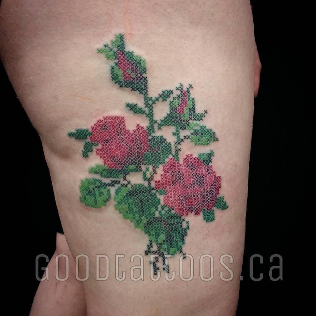 Cross Stitch Tattoo: 32+ Unique Cross Stitch Tattoos