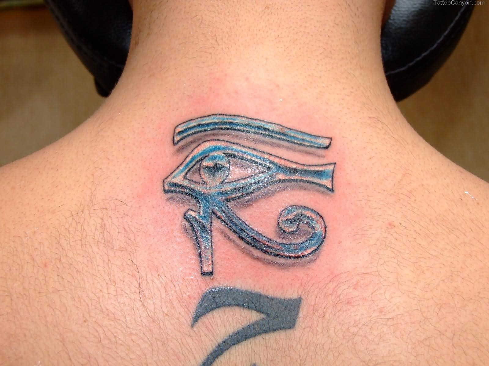 20 egyptian symbol tattoos egyptian eye of horus symbol tattoo on upper back biocorpaavc Image collections