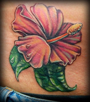 9 Hibiscus Tattoos On Lower Back