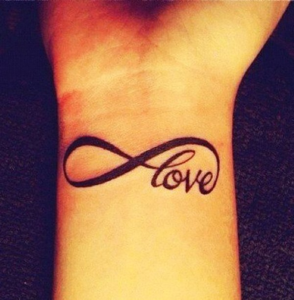 Love Infinity Symbol Tattoo On Wrist