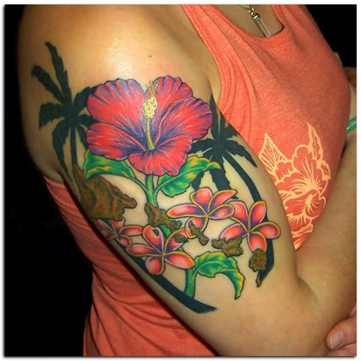 7 Hibiscus Half Sleeve Tattoos