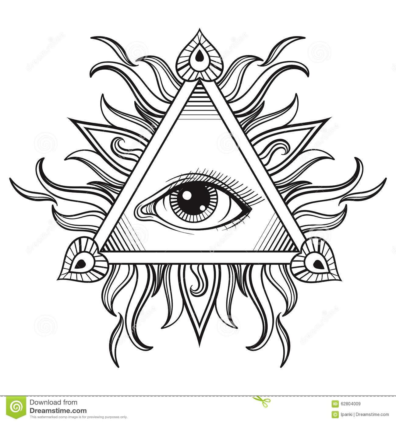 27 latest symbol tattoos designs ideas for Evil eye coloring pages