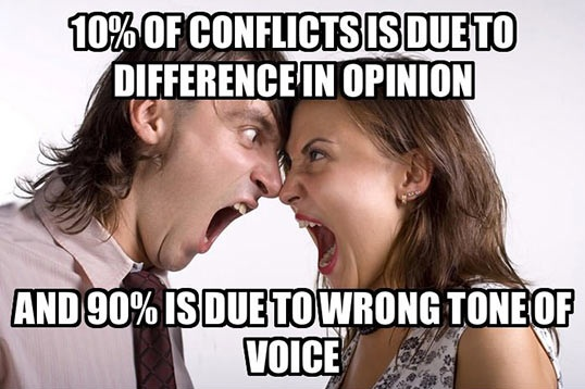 10 Percent Of Conflicts Is Due To Difference In Opinion Funny Couple Meme Image