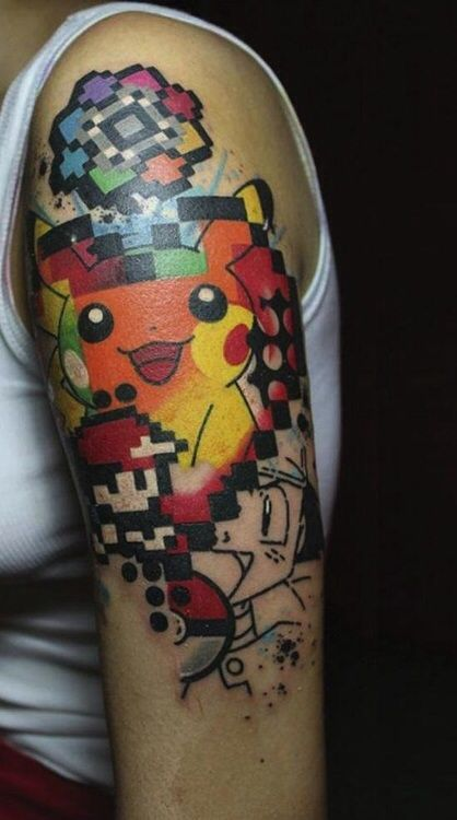 24+ Pokemon Tattoos On Sleeve