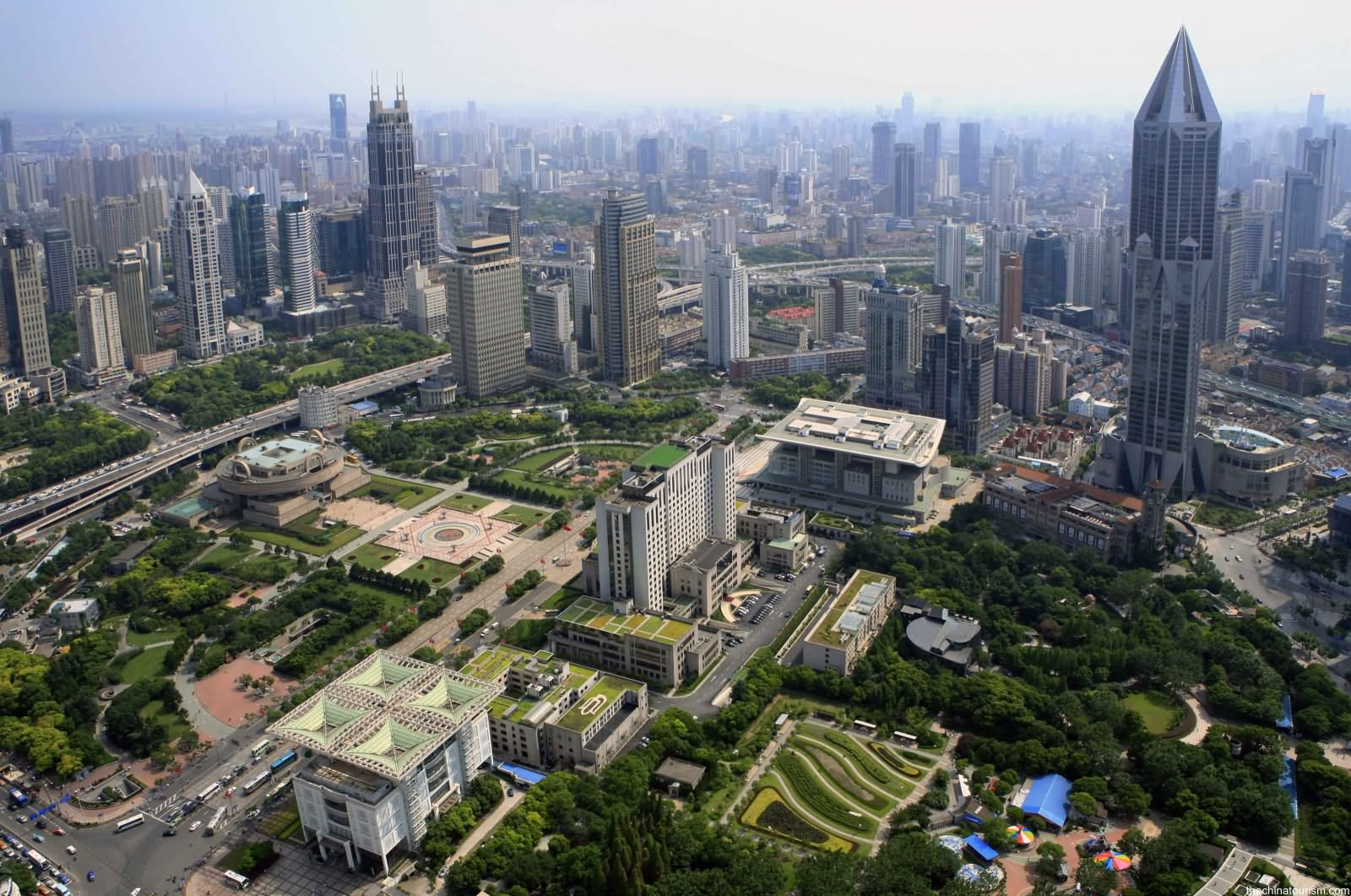 Aerial View Of The People Square China