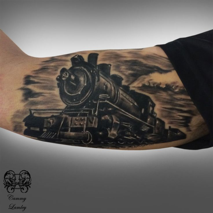 52 steam train tattoos. Black Bedroom Furniture Sets. Home Design Ideas
