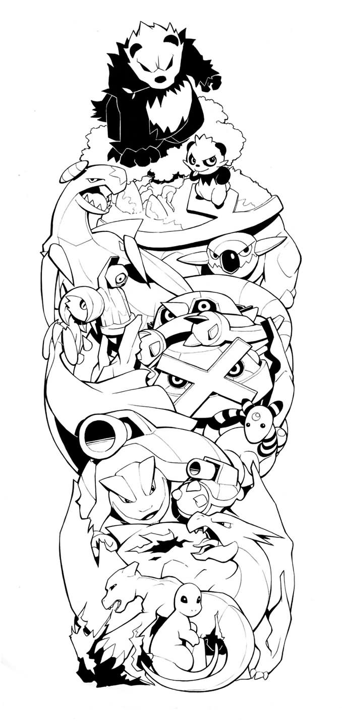 Tattoo Sleeve Stencils: 24+ Pokemon Tattoos On Sleeve