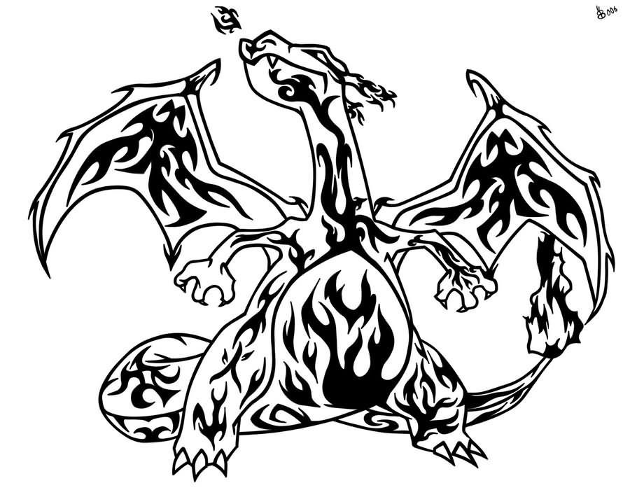 Charizard Stencil 49 Tribal Pokemon Tattoos Designs