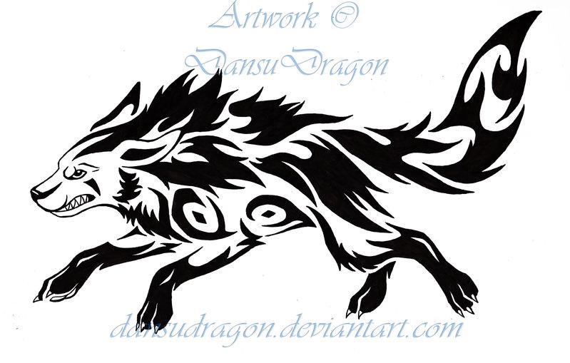 5b87354d8 Black Tribal Mightyena Pokemon Tattoo By DansuDragon