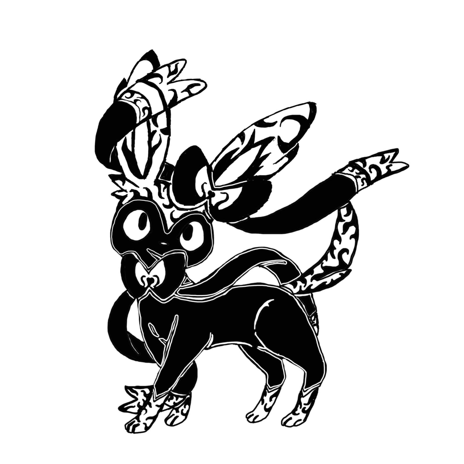 49+ Tribal Pokemon Tattoos Designs