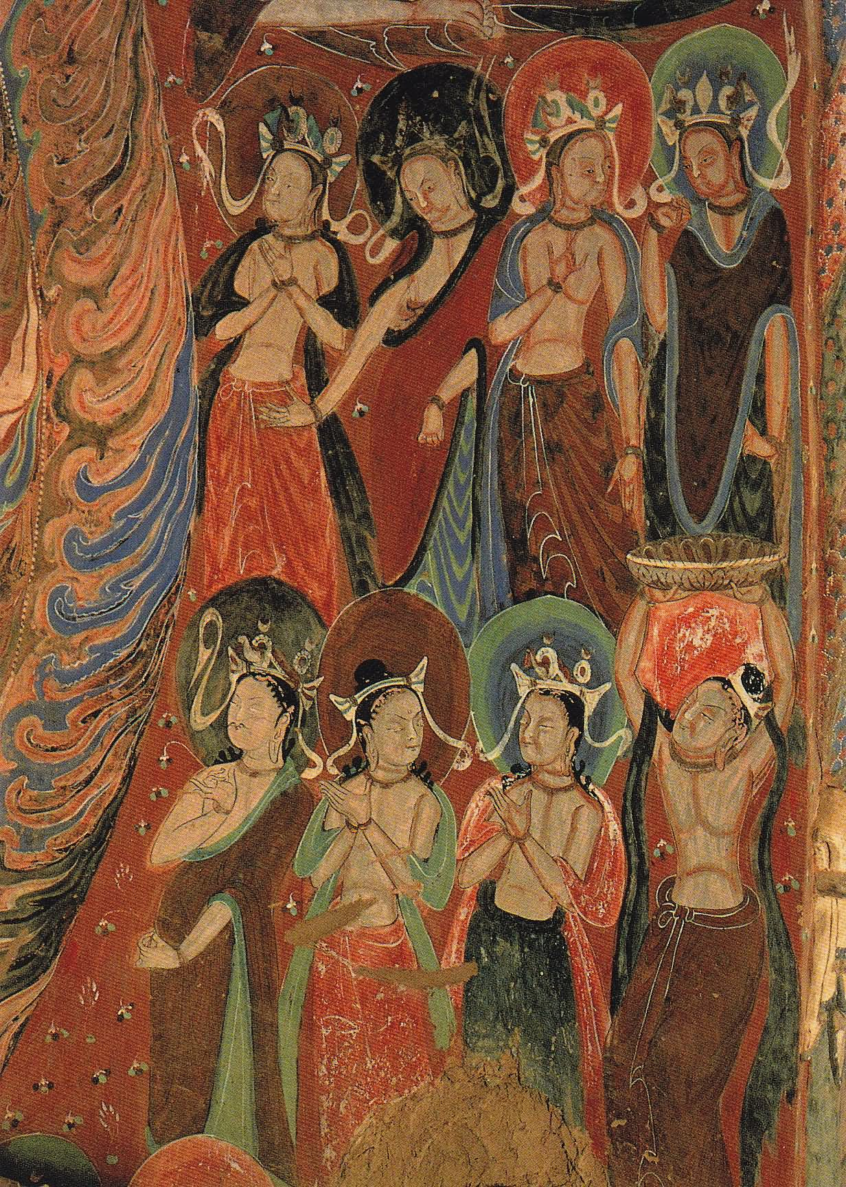 30 most beautiful paintings inside the mogao caves in for Buddha mural paintings