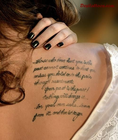 Don T Forget To Love Yourself Love Quote Tattoo: 41+ Upper Back Quote Tattoos
