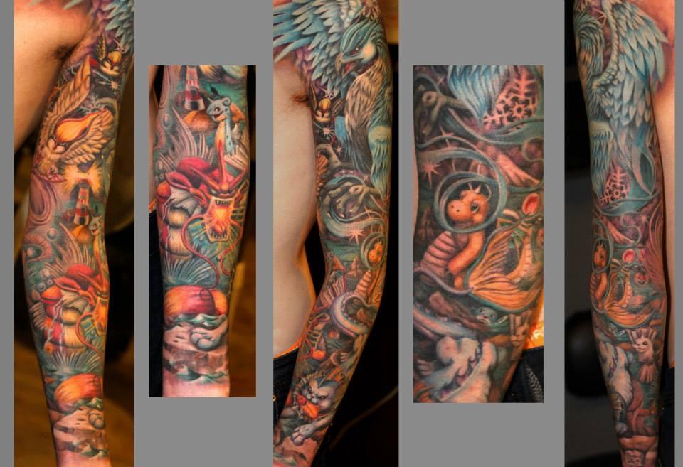 24 Pokemon Tattoos On Sleeve