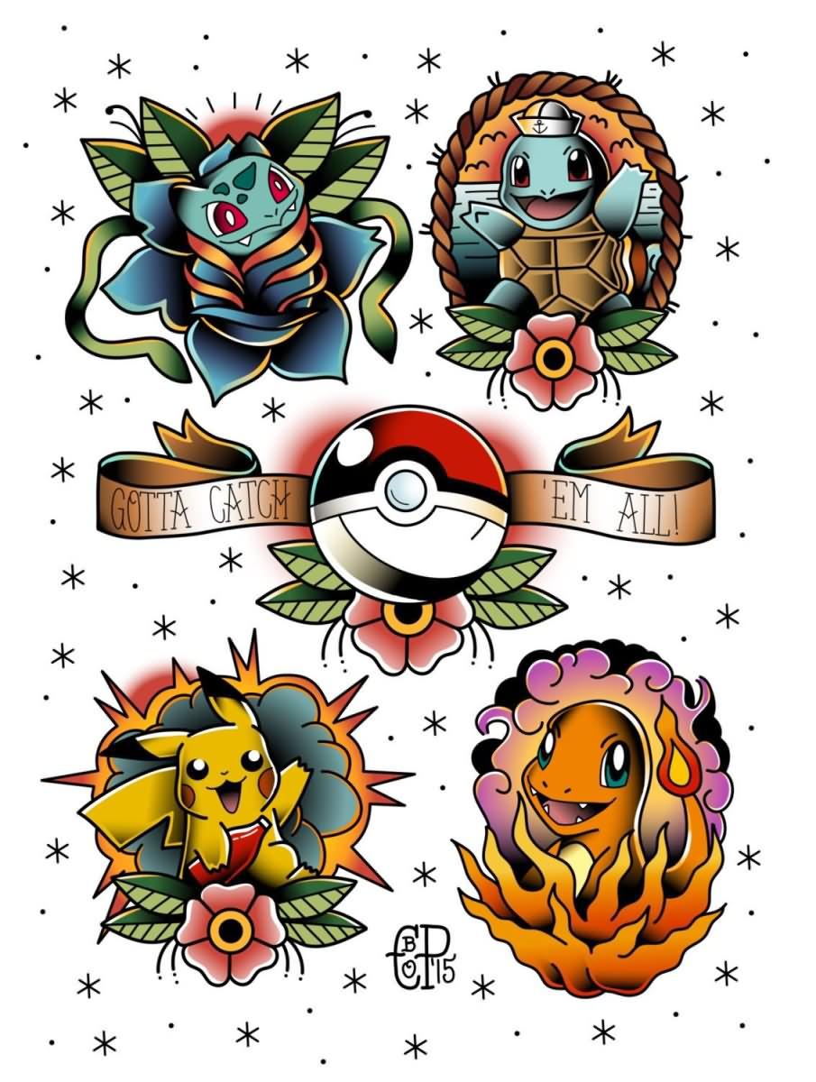 40+ Best Pokemon Tattoos