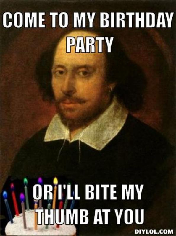 Come To My Birthday Party Funny Meme Image
