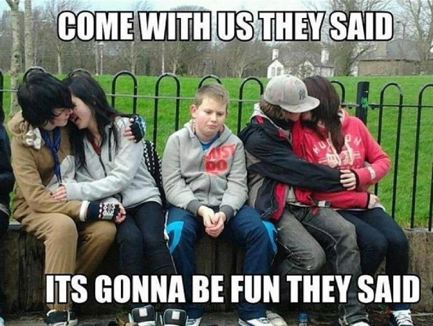 Come With Us They Said Funny Couple Meme Image